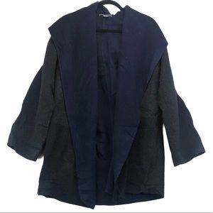 VINCE Wool Oversized Overcoat with Hood